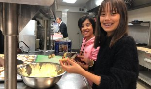 Enjoy a hot breakfast on the first Sunday of the month at Trinity Church