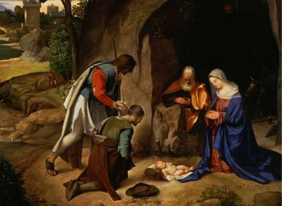 """Adoration of the Shepherds"" – Giorgione (1477/78-1510)"