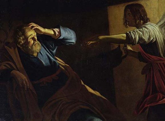 """St. Peter Freed from Prison"" – Gerrit von Honthorst (1590-1656)"