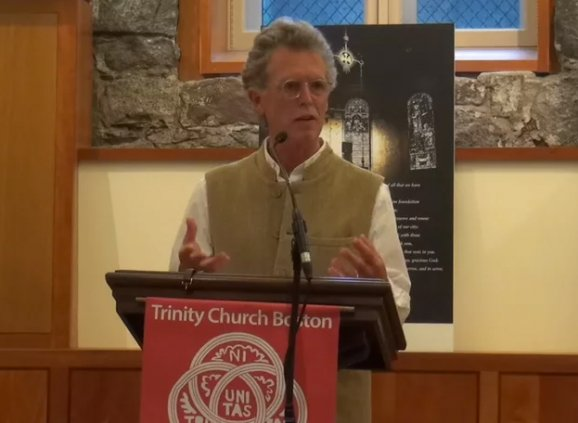 John Philip Newell speaking at the forum.