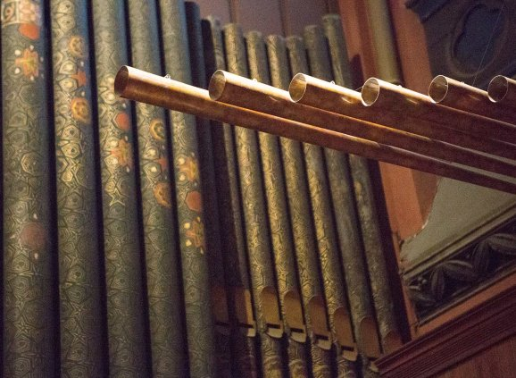 Organ pipes at Trinity Church.