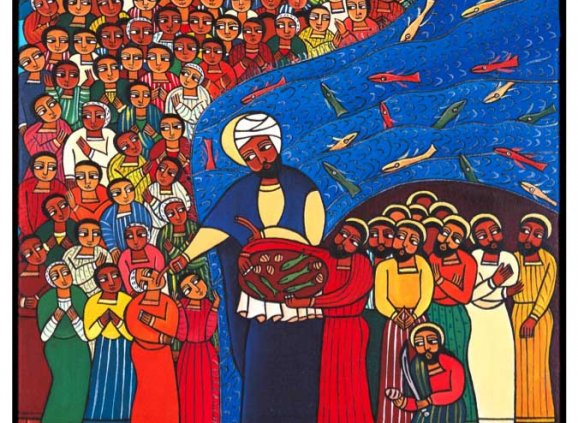 Jesus Feeds the Five Thousand - Laura James (1971- )