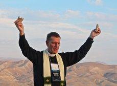 Bill presiding over the Eucharist in Israel.