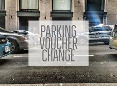 Parking voucher change