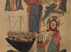 """""""Jesus Feeding the Multitudes and Walking on Water"""" – c. 1386"""