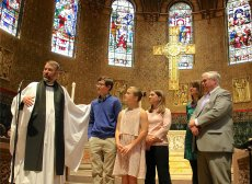 The Allen family was introduced to the parish on April 28, 2019