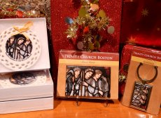 Gifts featuring details from Trinity's decor are available at the Shop at Trinity Church