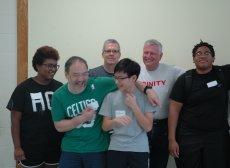 Trinity's volunteers help to make the McCormack School shine.