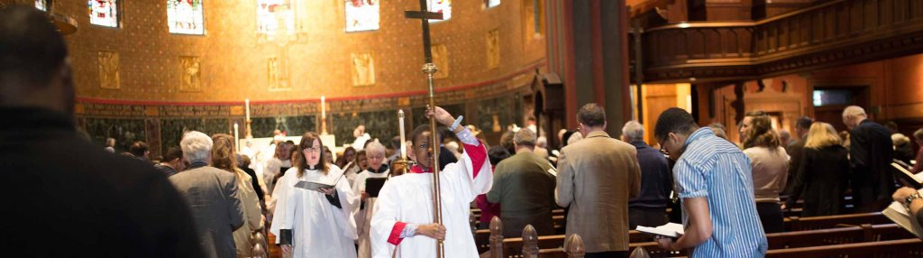 Acolyte leading procession