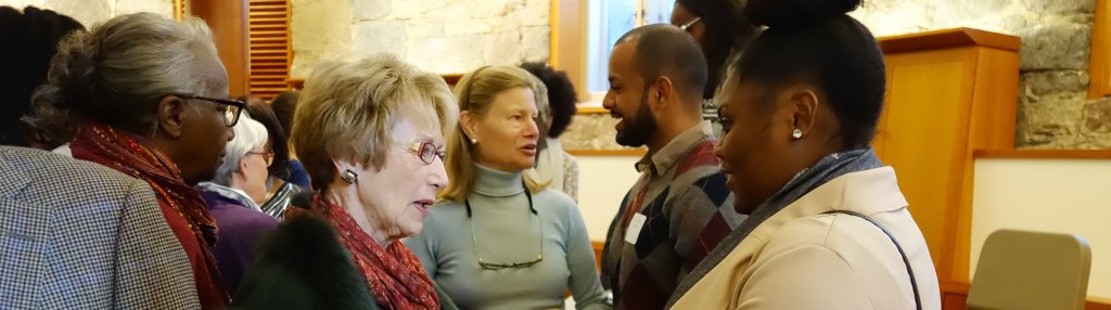 Members of the ART chat with young Boston leaders of color at the Anne Berry Bonnyman Symposium in 2016.