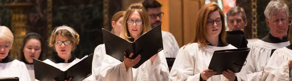 The Trinity Choir at the 11:15 a.m. service